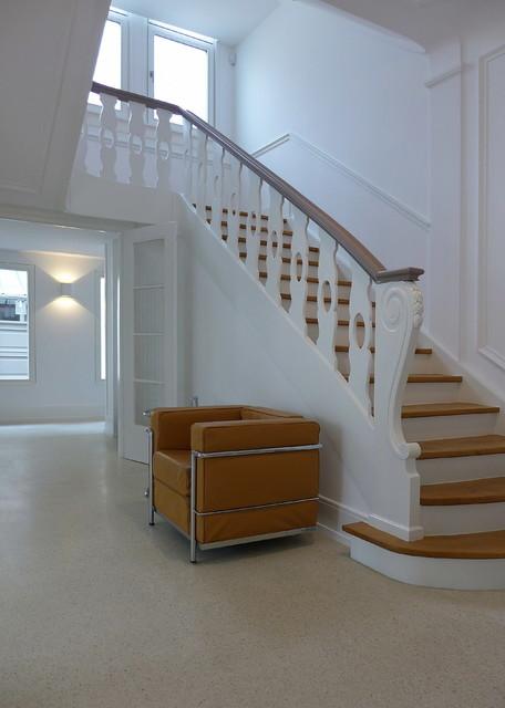 modernisierung rekonstruktion einer villa frankfurt am main klassisch treppen frankfurt. Black Bedroom Furniture Sets. Home Design Ideas