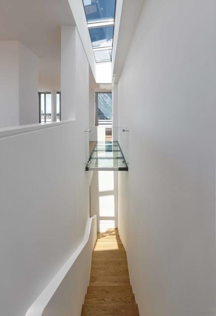 penthouse-maisonette-wohnung - minimalistisch - treppen, Innenarchitektur ideen