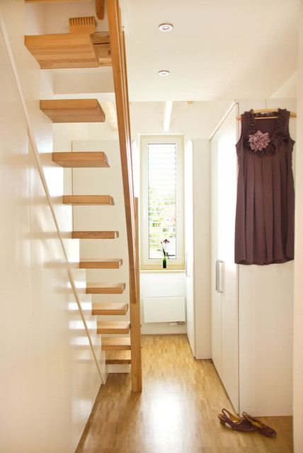 Remodeling house in germany scandinavian staircase other metro by lisa nieschlag liz - Attic stairs for small spaces style ...