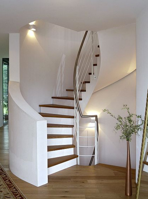 stadtvilla in karlsruhe gr nwinkel treppenhaus modern. Black Bedroom Furniture Sets. Home Design Ideas