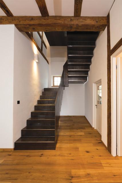 stahltreppe rustikal treppen frankfurt am main von daniel morber architektur. Black Bedroom Furniture Sets. Home Design Ideas