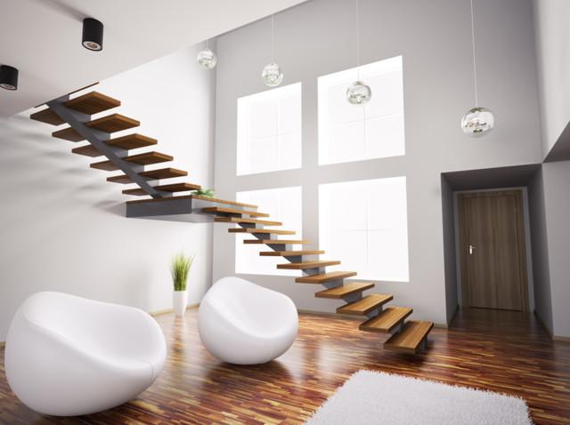 Treppe Modern Und Flach Contemporain Escalier