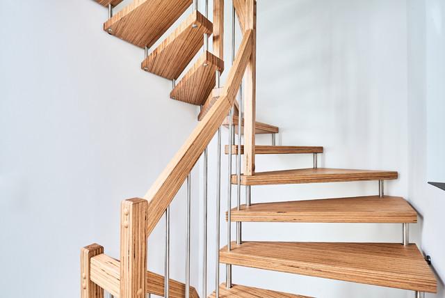 Treppen aus baubuche paneel modern treppenhaus other