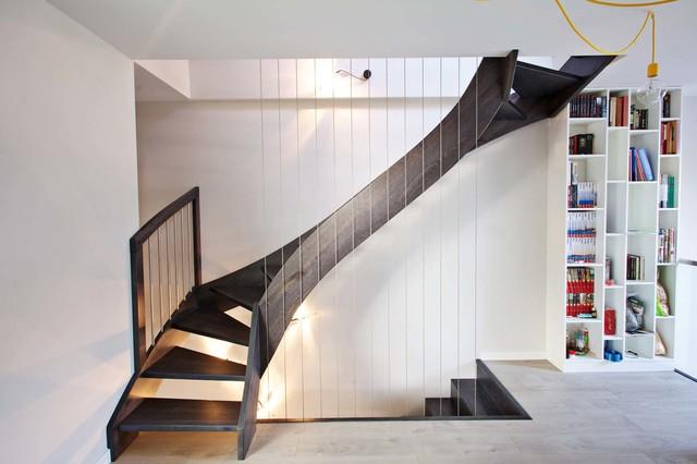 wangentreppe iserlohn modern treppenhaus sonstige. Black Bedroom Furniture Sets. Home Design Ideas