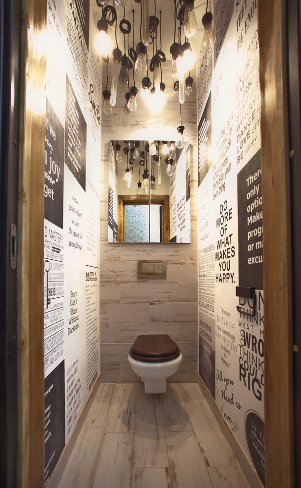 Powder room - industrial powder room idea in Saint Petersburg