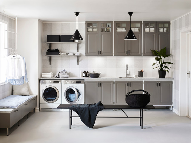 Tvättstuga ingrid   transitional   laundry room   other metro   by ...