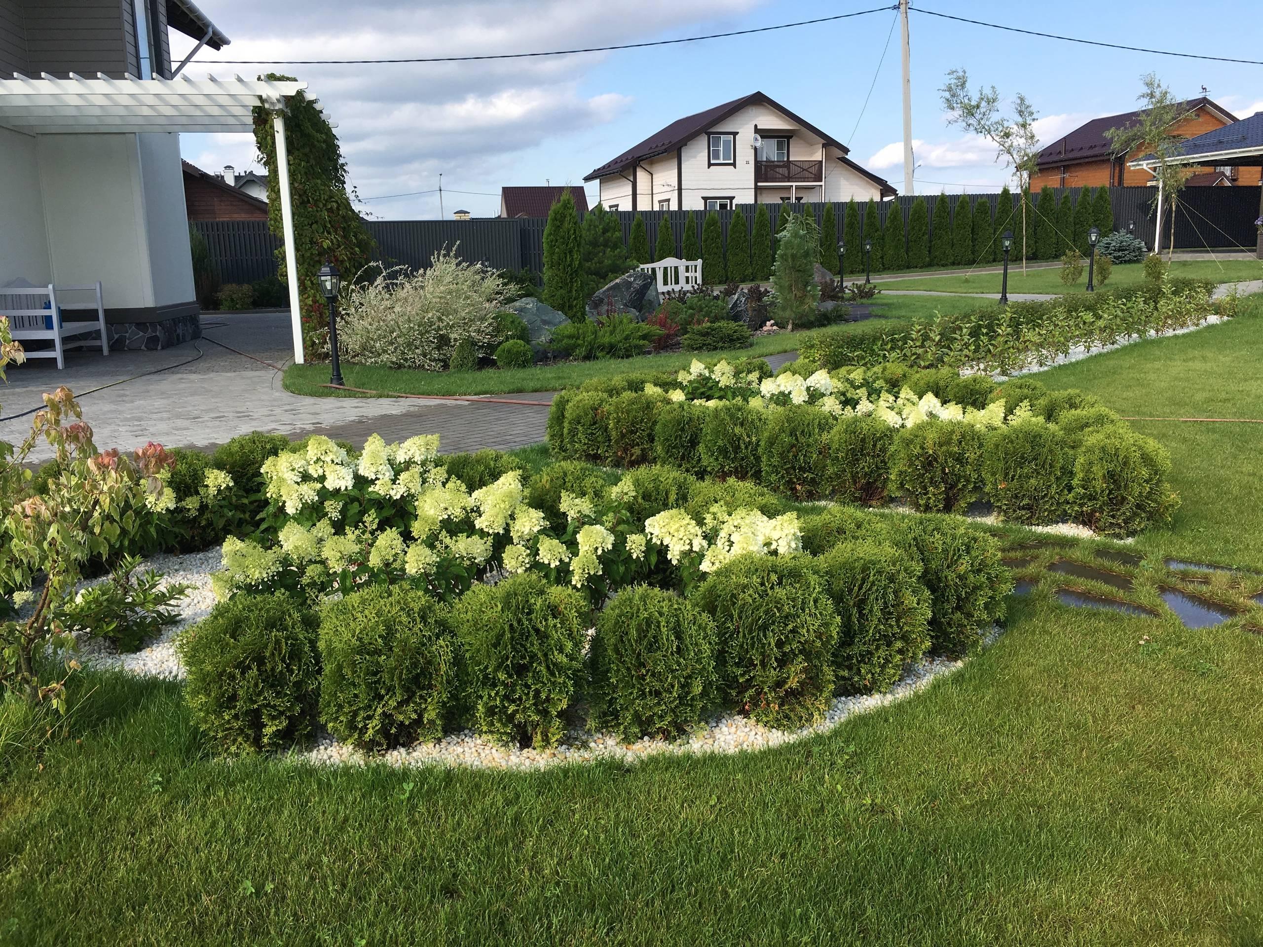 """Ландшафтный дизайн сада в поселке """"Олимп"""""""