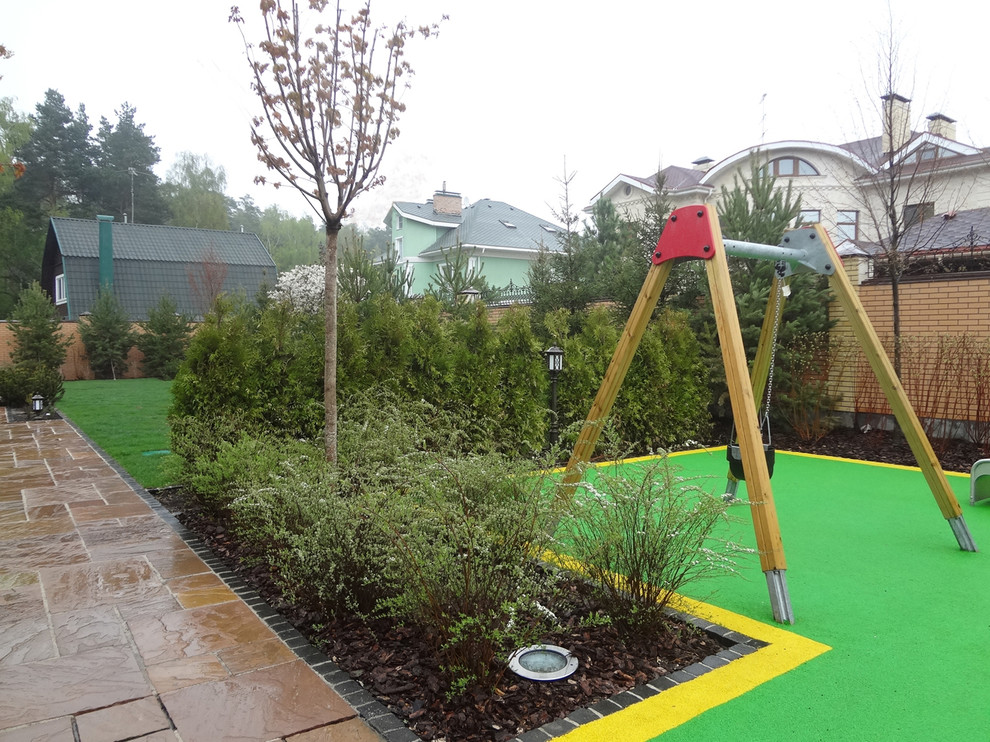 This is an example of a contemporary full sun outdoor sport court for summer in Other.