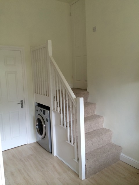 Garage Conversion Into Utility Room Traditional