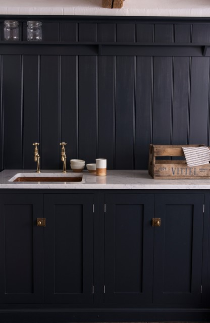 The Pantry Blue Utility Room by deVOL - Rustic - Laundry Room - east ...
