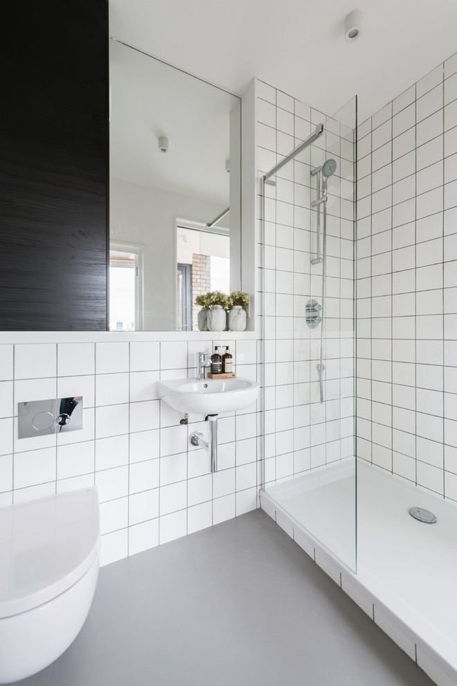This is an example of a scandinavian bathroom.