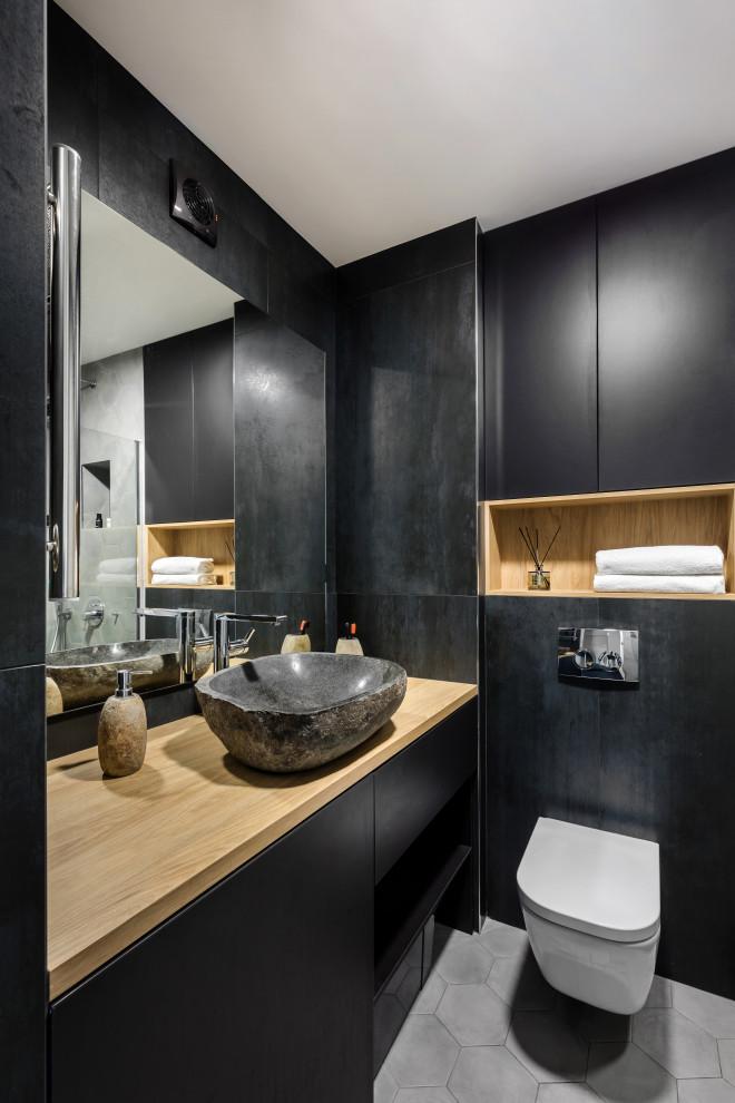 Черно-белый интерьер - Contemporary - Bathroom - Saint ...