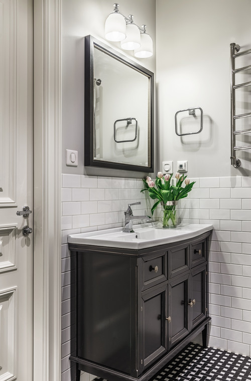 How To Give A Bathroom Vanity A High End Designer Look