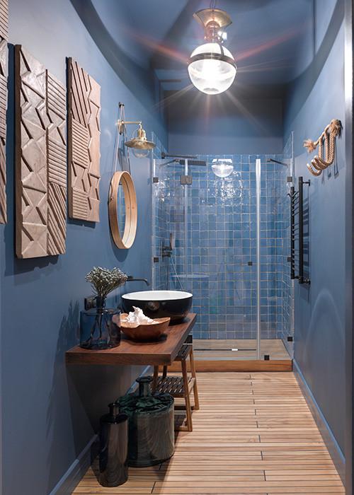 Realizzare un bagno blu di giacomo pavimenti sas - Idee per piastrellare un bagno ...