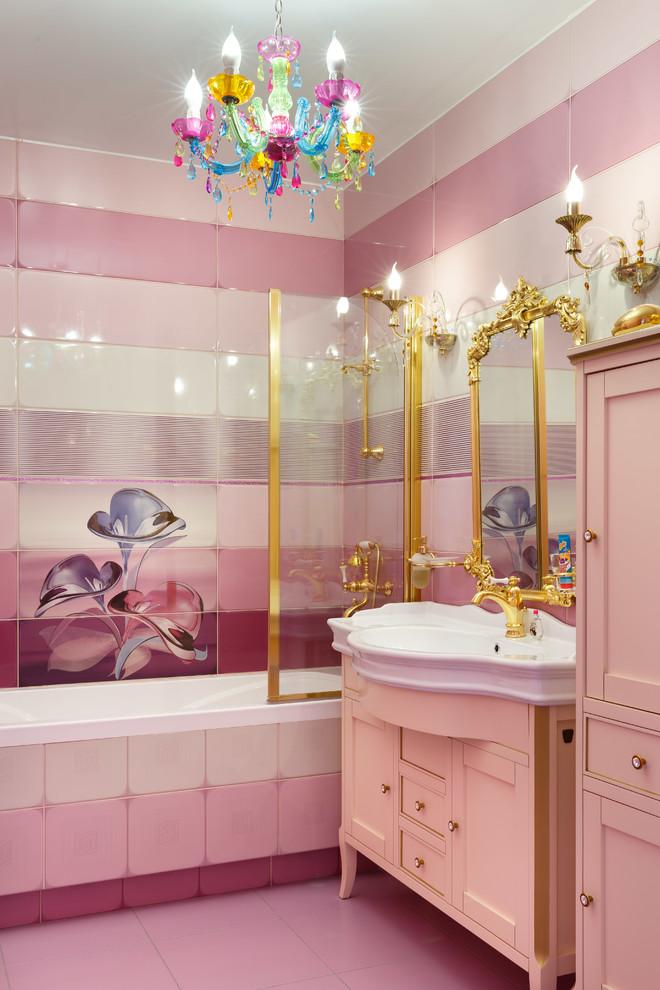Квартира на Наличной ул.,2015г. - Eclectic - Bathroom ...