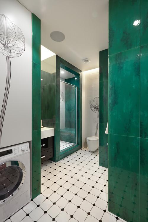 16 Idee Per Rivestire Il Bagno Con Piastrelle Verde Smeraldo
