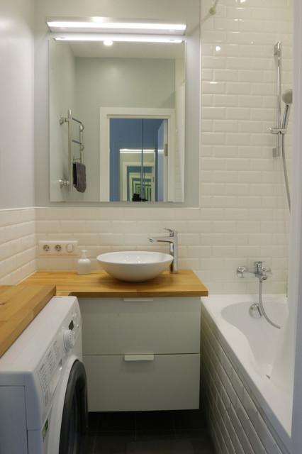 Однушка для двоих contemporary-bathroom