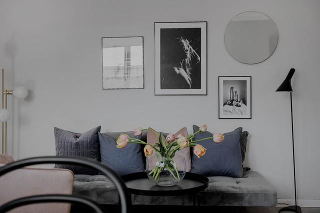 Foto på ett nordiskt vardagsrum
