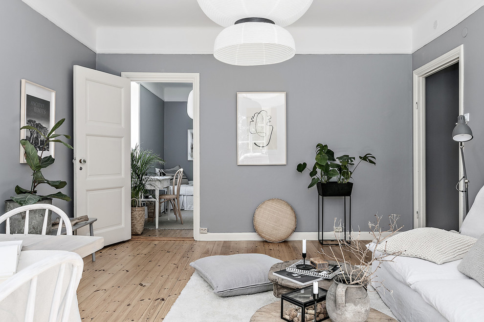 Example of a danish living room design in Stockholm