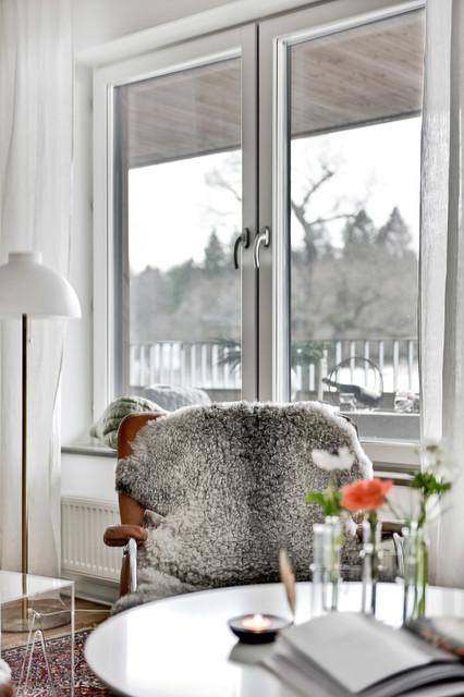 Bild på ett minimalistiskt vardagsrum