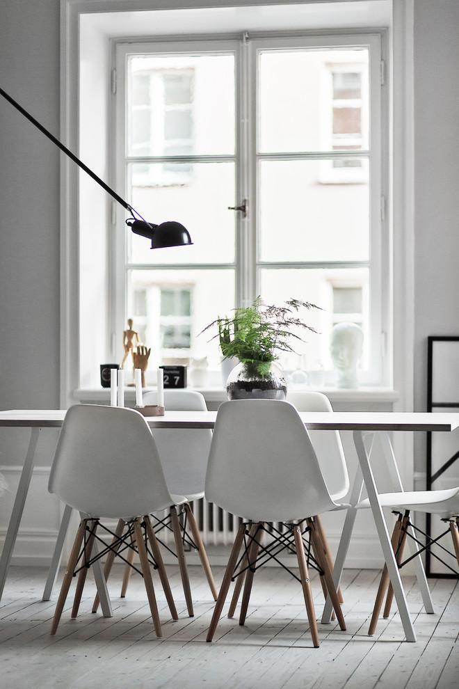 Living room - scandinavian living room idea in Stockholm