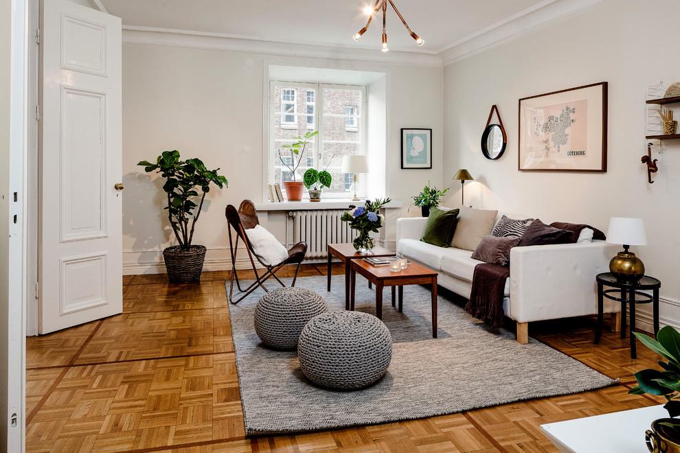 Inspiration for a transitional living room remodel in Gothenburg