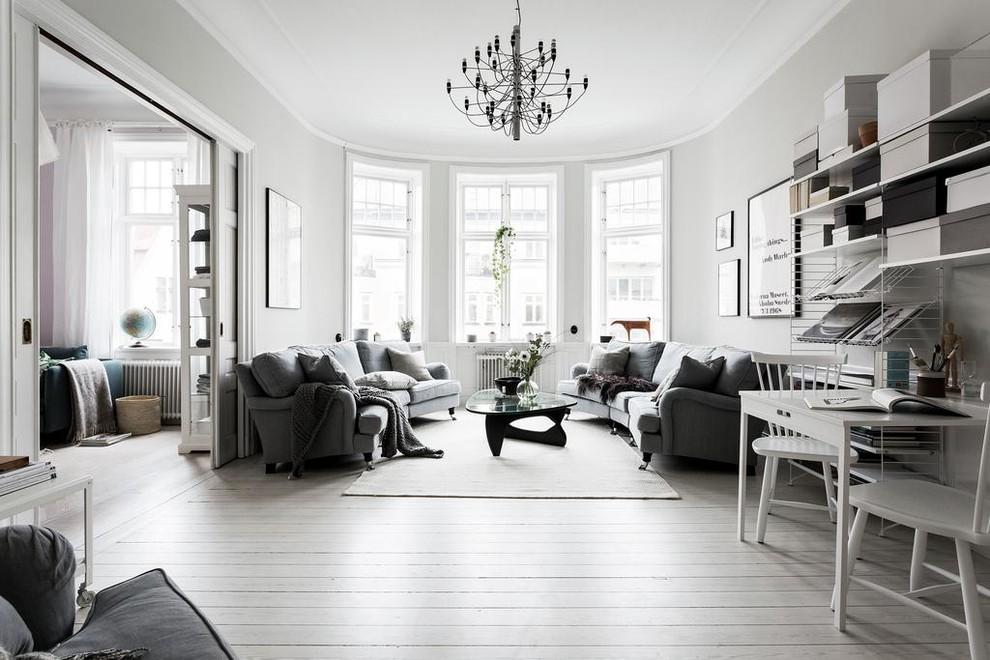 客厅灰色沙发装潢效果图