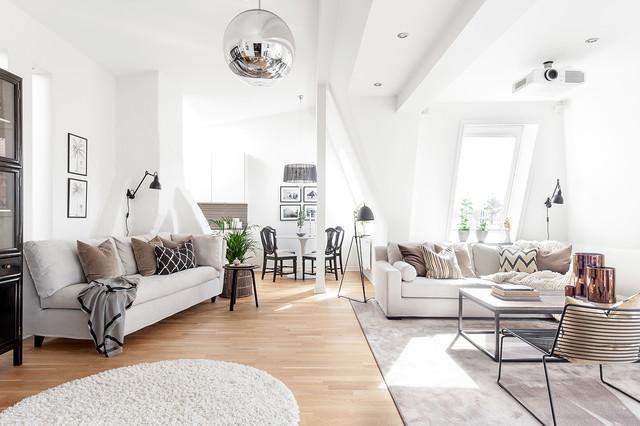 Inredning av modern loftvåning i Göteborg - Skandinavisk ...