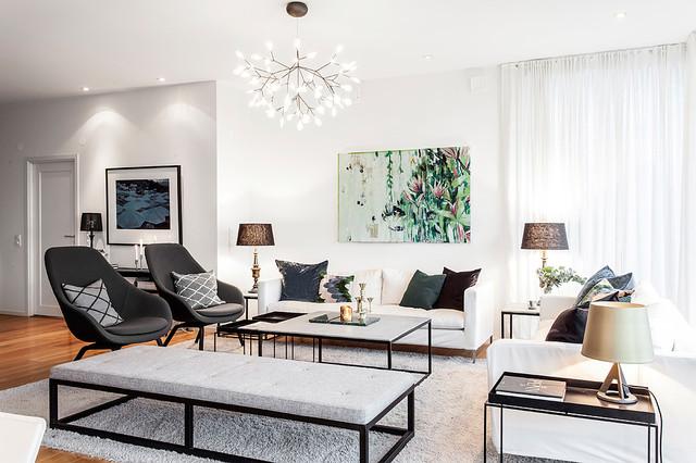 Inredning av modern villa i Göteborg - Contemporary - Living Room ... : taklampa tvrum : Taklampa
