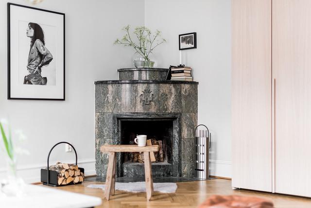 Interior Vasastan Gothenburg moderno-salon