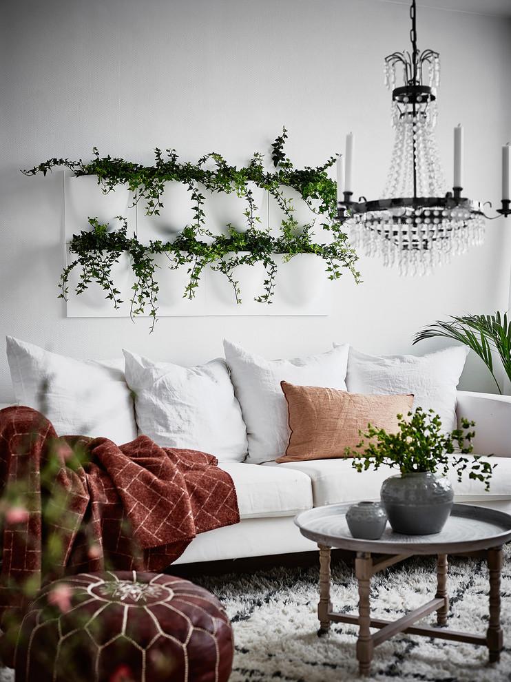 Inspiration for a scandinavian living room remodel in Gothenburg