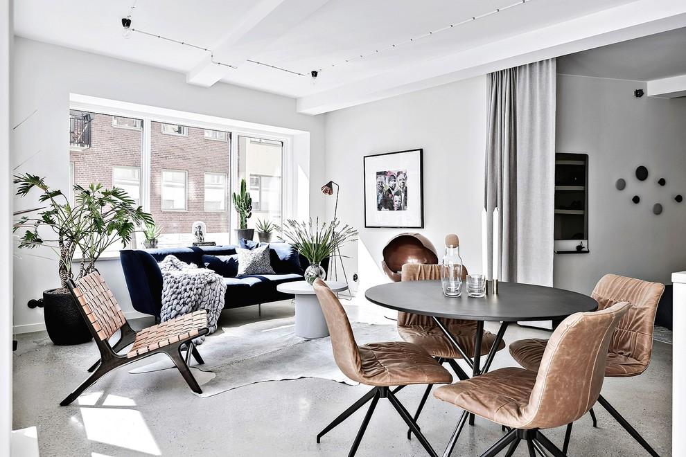 Living room - scandinavian living room idea in Gothenburg