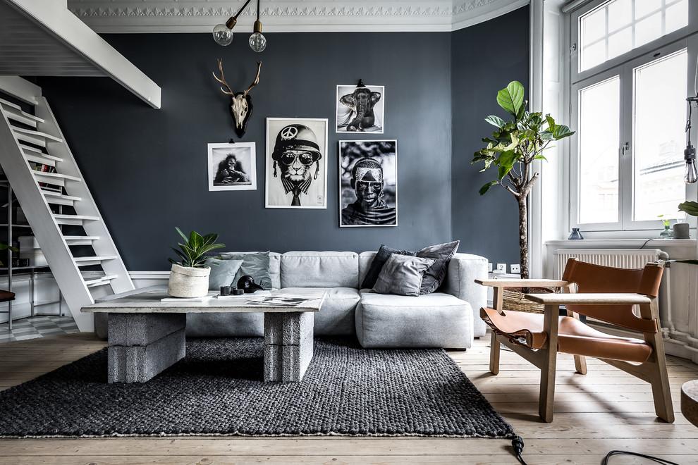 Inspiration for a scandinavian living room remodel in Stockholm