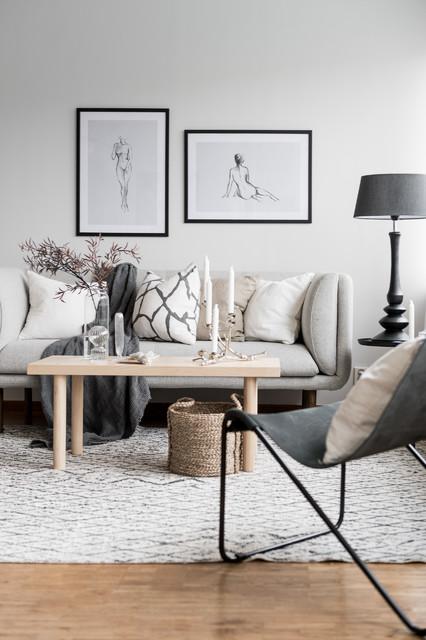 Small apartment interior - Skandinavisch - Wohnbereich ...