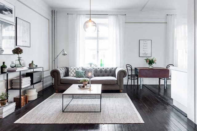 Vardagsrum skandinavisk-dagligstue