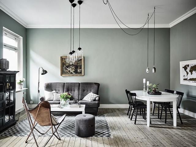Skandinavisch Wohnbereich By Entrance Fastighetsmäkleri