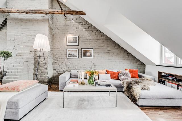 vasastan vindsvåning scandinavian-living-room