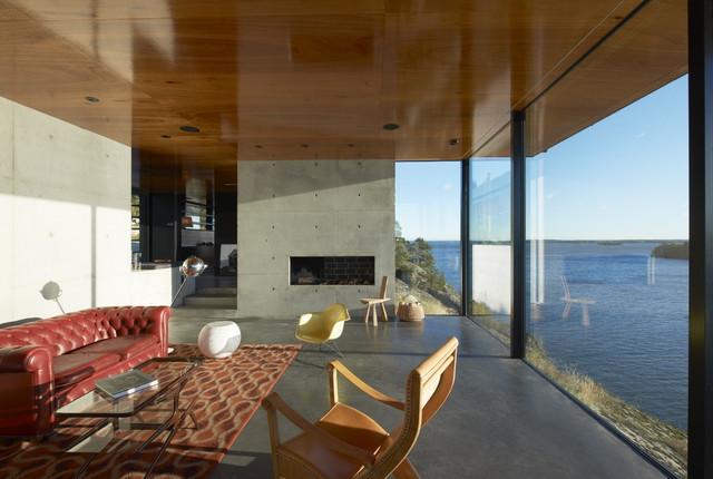 Villa munsöterrassen minimalistisch wohnbereich stockholm