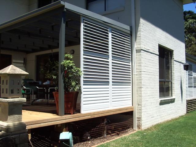 Aluminium Shutters For Privacy Screens Modern Porch