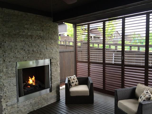 Aluminium Shutters For Privacy Screens Modern Veranda