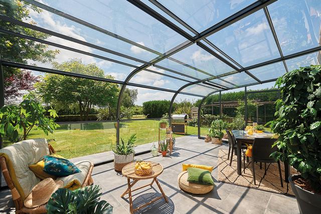 Abri Terrasse Panoramik Des Panneaux Relevables Pour Une