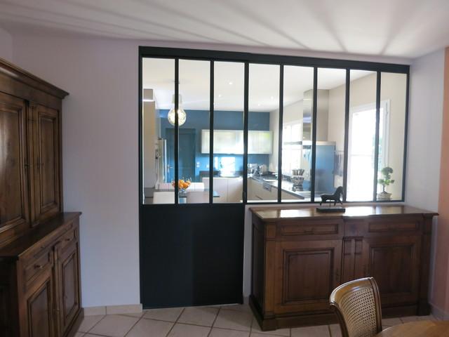 Acces cuisine porte atelier apres industriel v randa for Verriere type industriel
