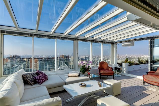 Appartement 140m2 terrasse contemporain v randa et for Grand appartement design