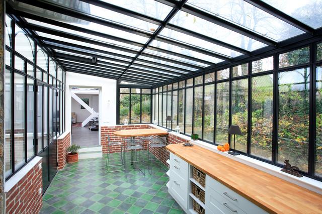 Extension de villa for Extension cuisine veranda