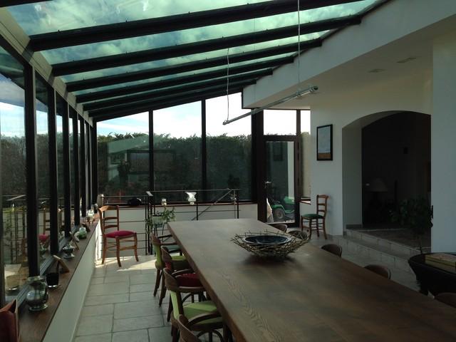 extension verre m tal et bois industriel v randa et verri re lyon par domebio ma tre d. Black Bedroom Furniture Sets. Home Design Ideas