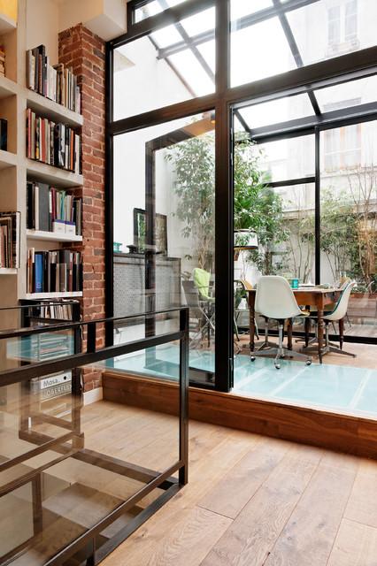 l 39 imprimerie industrial sunroom paris by miriam gassmann. Black Bedroom Furniture Sets. Home Design Ideas