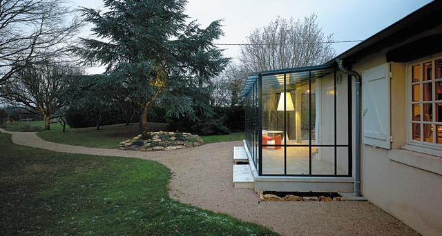 Maison m modern wintergarten angers von atelier 100architecture