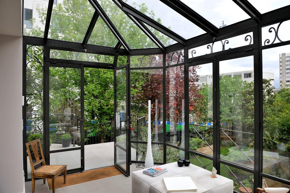 Esempio di una veranda minimal