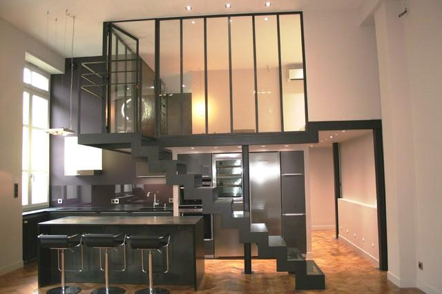 p g plateau lyon 6 contemporain v randa et verri re lyon par bonin architecte d 39 int rieur. Black Bedroom Furniture Sets. Home Design Ideas