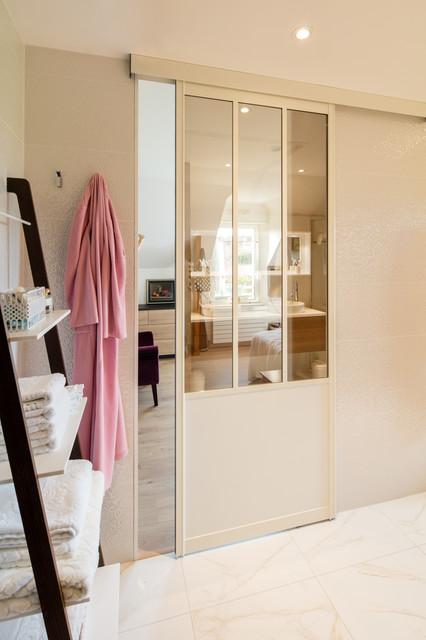 Porte Coulissante Style Atelier Blanche Sur Mesure